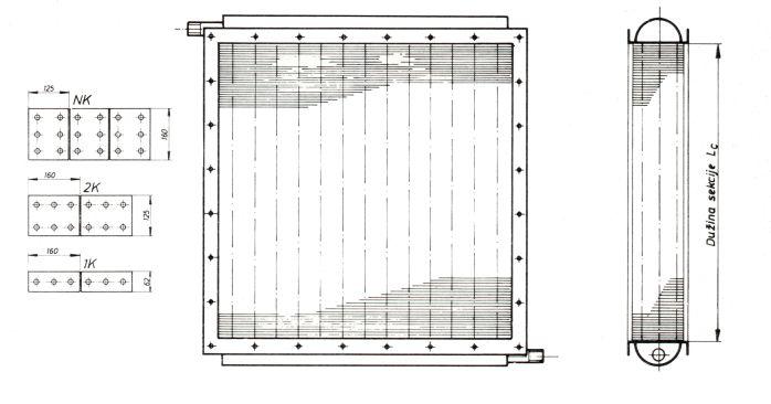 Dimenzije lamelnih izmjenjivača topline